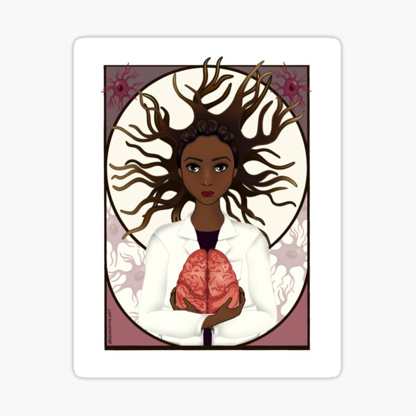 Woman in Neuroscience Sticker