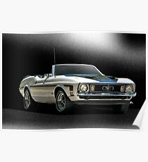 1971 Ford Mustang Convertible Poster