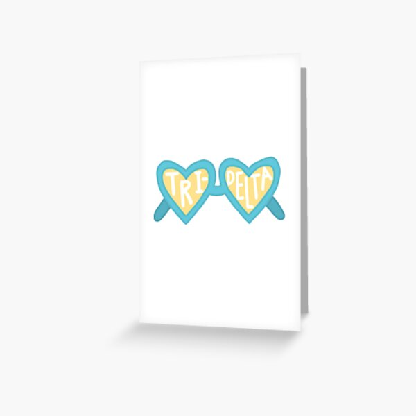 Tri Delt Sunglasses Greeting Card
