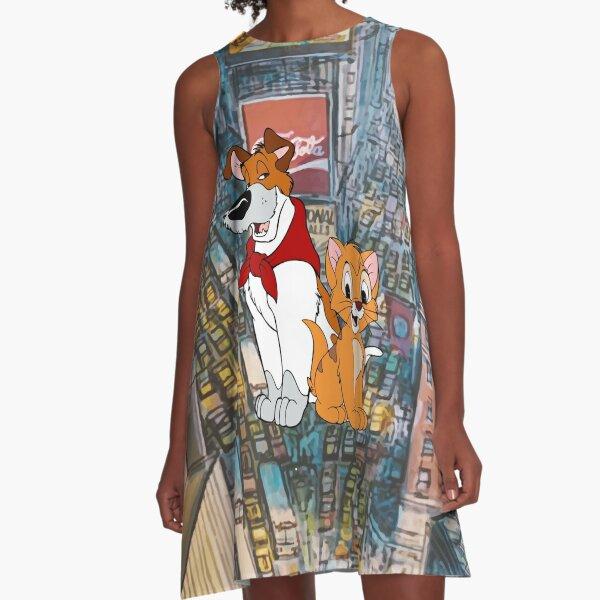 Oliver and Dodger - New York Time Square A-Line Dress