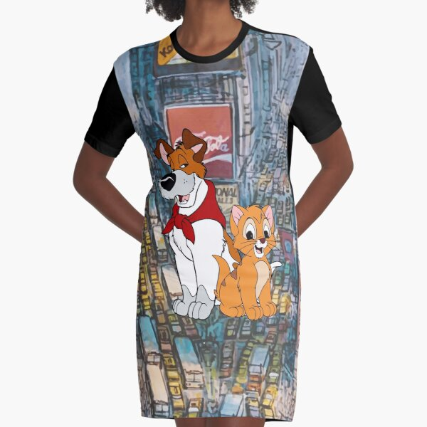 Oliver and Dodger - New York Time Square Graphic T-Shirt Dress