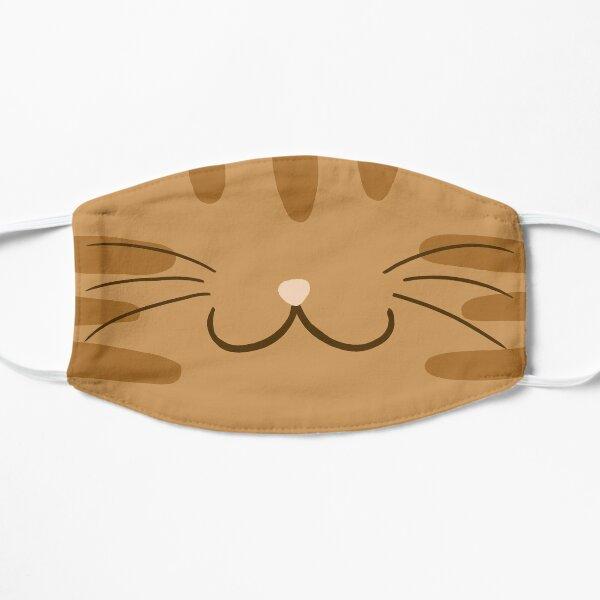Orange Tabby Cat Face Flat Mask