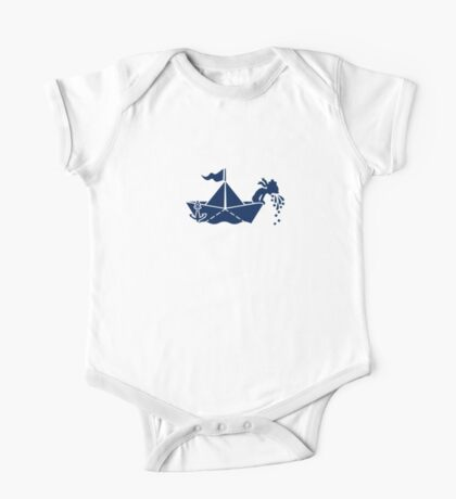 Seasick: Barfing Sailor on a Paper Boat VRS2 Kids Clothes