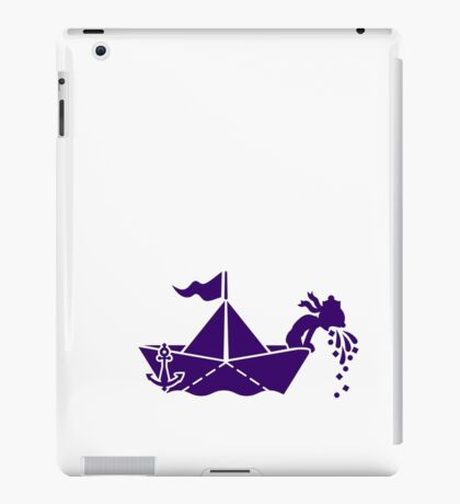 Seasick: Barfing Sailor on a Paper Boat VRS2 iPad Case/Skin