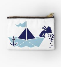 Seasick: Barfing Sailor on a Paper Boat VRS2 Studio Clutch