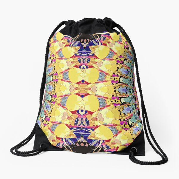 Colorful Abstract Pattern Drawstring Bag