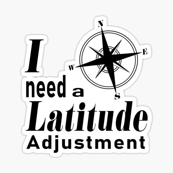 Latitude Adjustment Sticker
