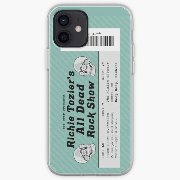 All Dead Rockshow Ticket Teal iPhone Soft Case