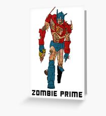 Zombie Prime Greeting Card