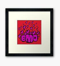 Emo hearts Framed Print