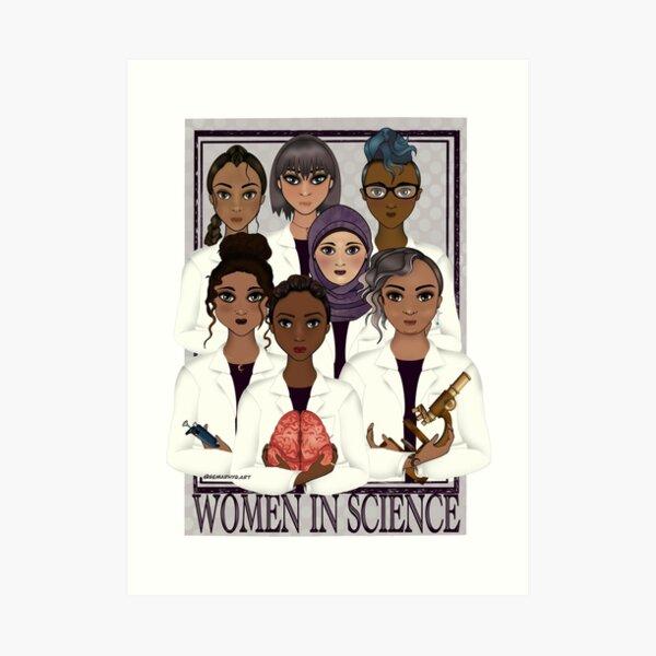 Women in Science Art Print