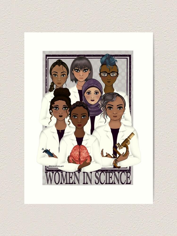 Alternate view of Women in Science Art Print