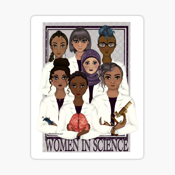 Women in Science Sticker