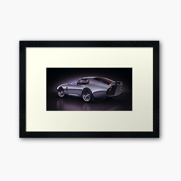 Shelby Daytona - Blue Streak Framed Art Print