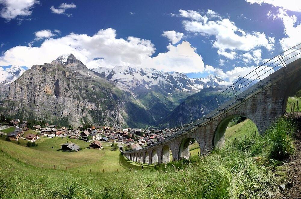 Mountains in Switzerland by jamjarphotos
