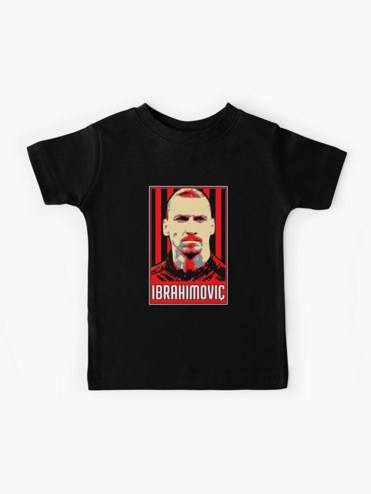 Zlatan Ibrahimovic Mailander Portratkunstwerk Kinder T Shirt Von Oliverkunovski Redbubble