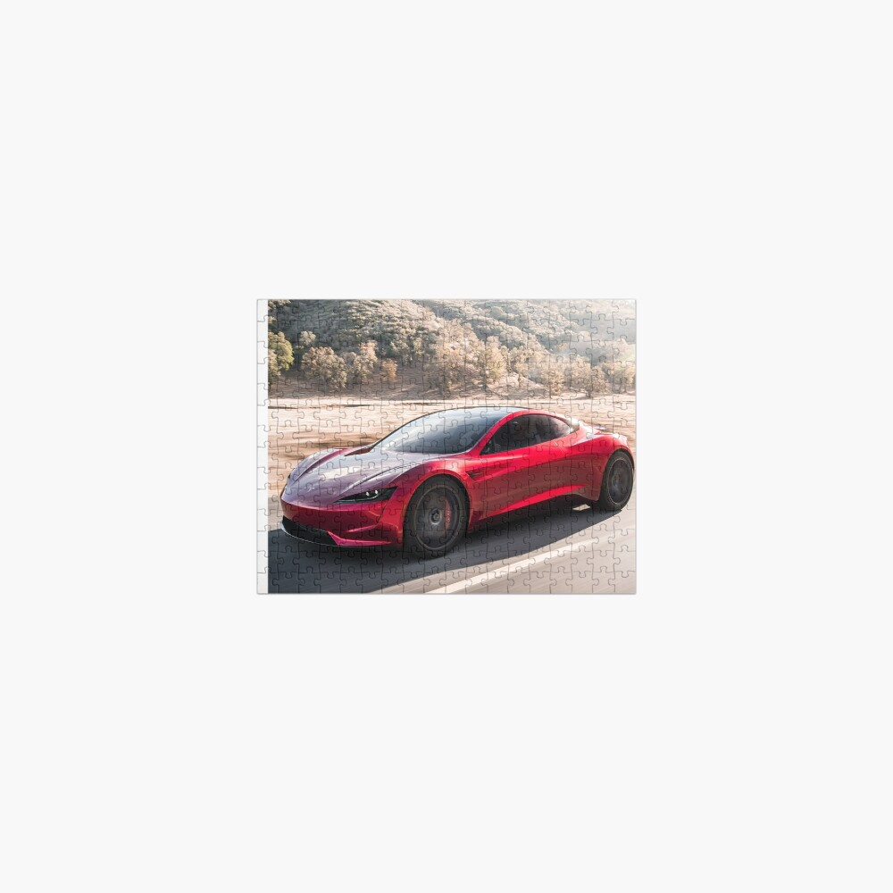 Tesla Roadster 2022 On The Road  Design! Jigsaw Puzzle