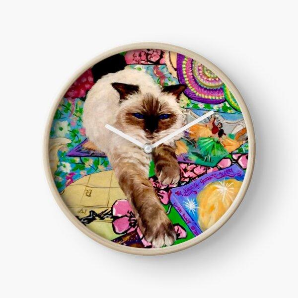 Decluttering cat style  Clock