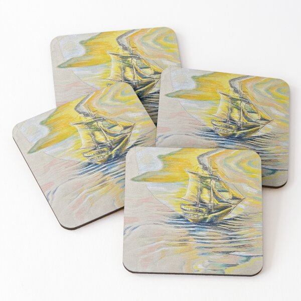 Golden Portal Coasters (Set of 4)