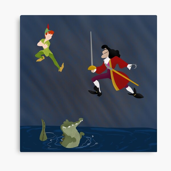Peter Pan and Hook Canvas Print