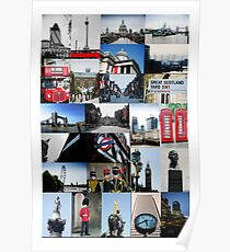London, England - collage of multiple images Poster