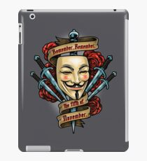 Fifth of November iPad Case/Skin