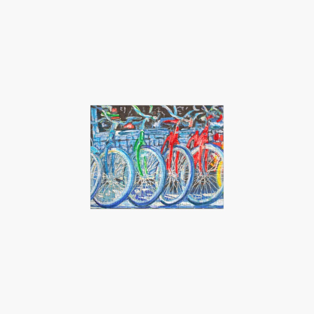 The Bicycle Shop - Bikes in A Row - Painting Jigsaw Puzzle