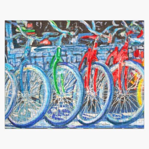 La tienda de bicicletas - Bicicletas en una fila - Pintura Puzzle
