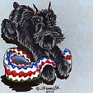 Black Schnauzer Blanket Buddy by offleashart