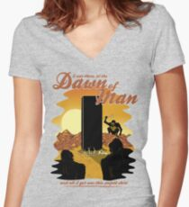 The Dawn of Man Women's Fitted V-Neck T-Shirt