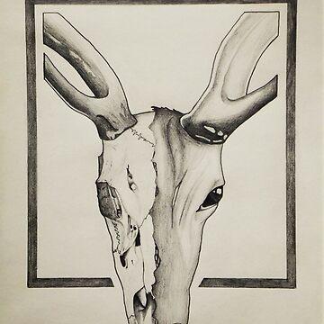Deer / Skull by Jonbonalon