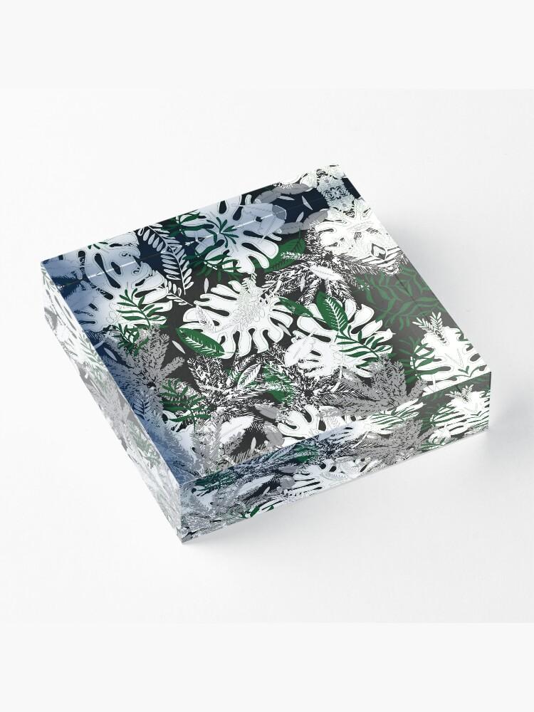 Alternate view of White Monstera Acrylic Block