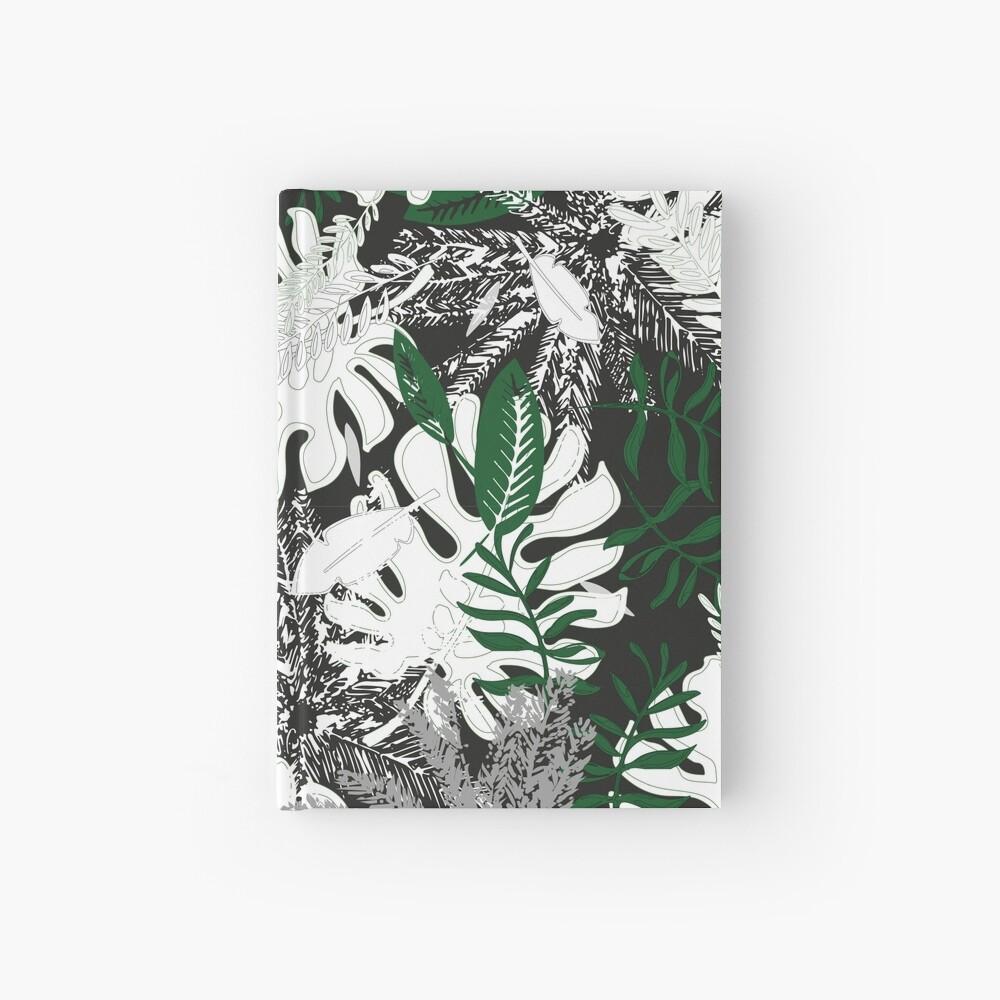 White Monstera Hardcover Journal