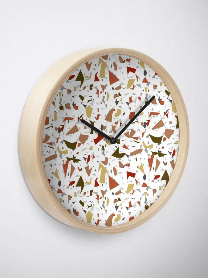 Alternate view of Mash Up Terrazzo Clock