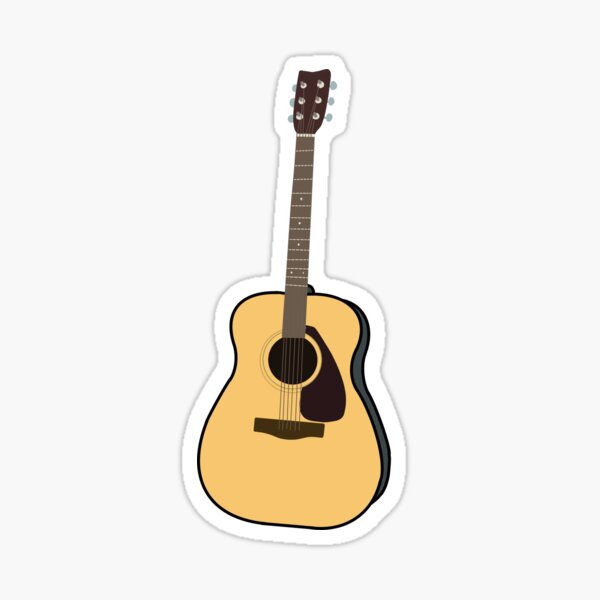 Acoustic Guitar Glossy Sticker