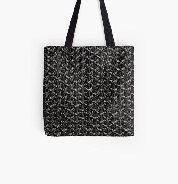 Black All Over Print Tote Bag