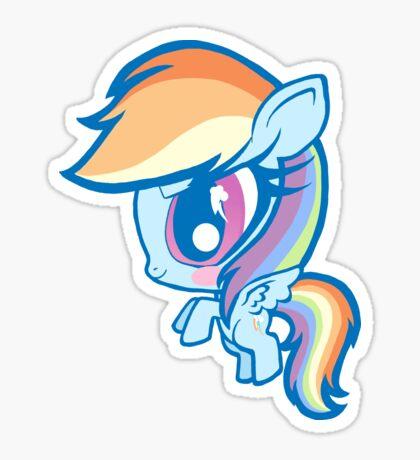 Weeny My Little Pony- Rainbow Dash Sticker