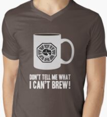 """Don't tell me what I can't brew!"" Dharma Initiative Coffee (Lost) Men's V-Neck T-Shirt"