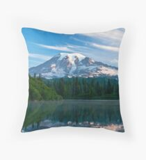 Mount Rainier National Park Throw Pillow