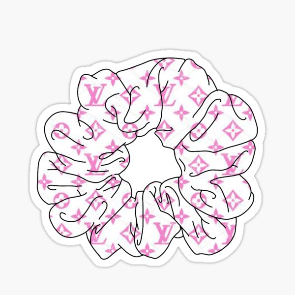 the LV scrunchie Sticker