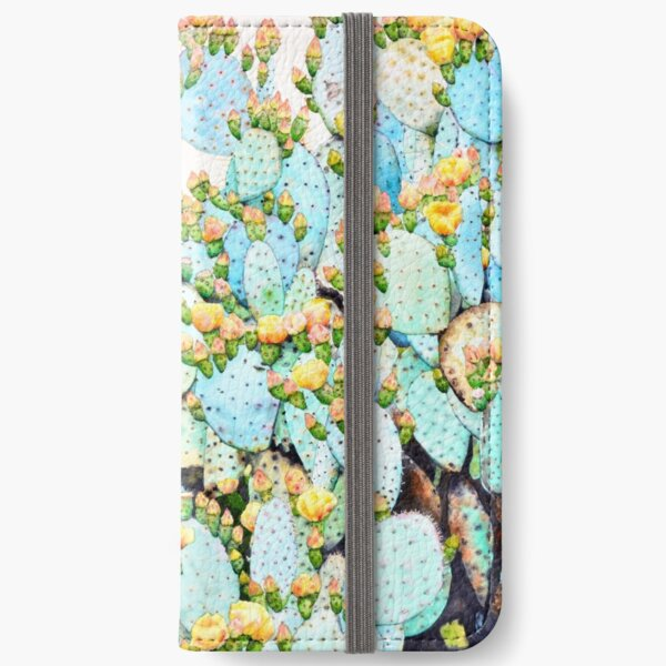Watercolor Prickly Pear iPhone Wallet