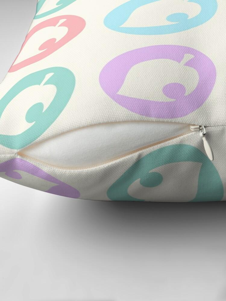 Alternate view of Pastel Leaves Floor Pillow
