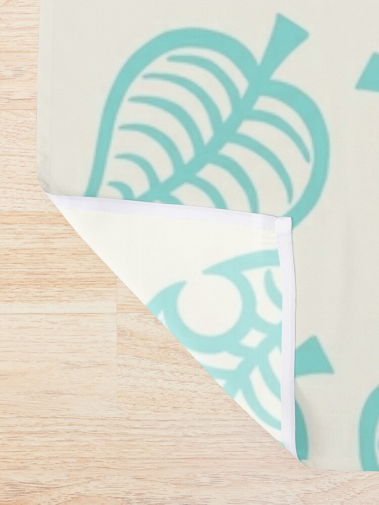 Alternate view of Nook leaves Shower Curtain