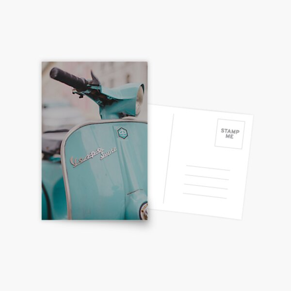 Mint Vespa Postcard