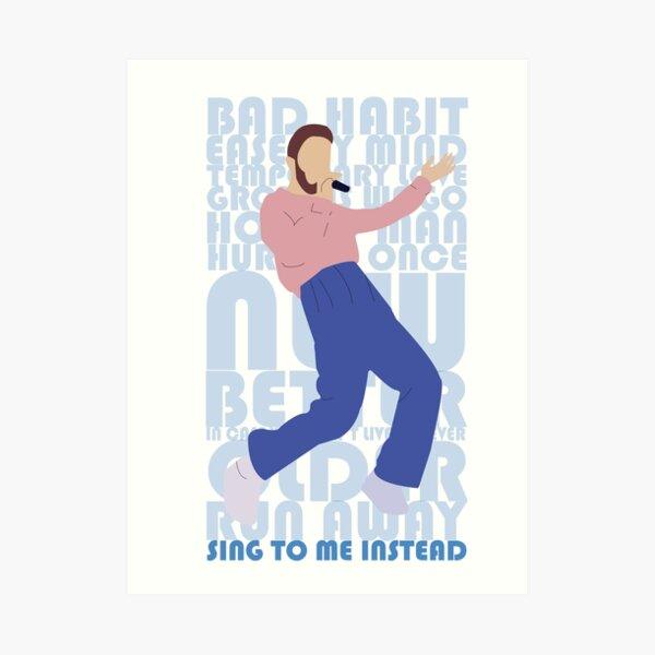 Ben Platt Sing To Me Instead Album Art Art Print