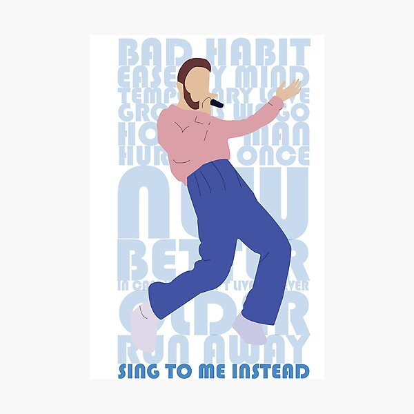 Ben Platt Sing To Me Instead Album Art Photographic Print