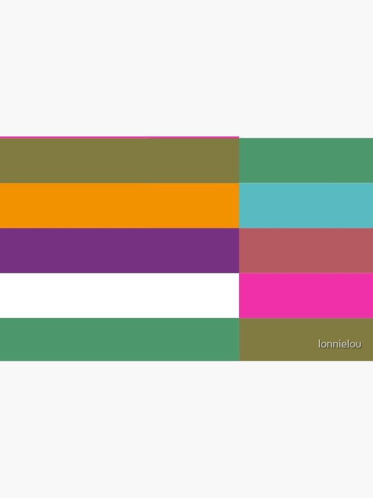 Colour Hue Block Stripes  by lonnielou