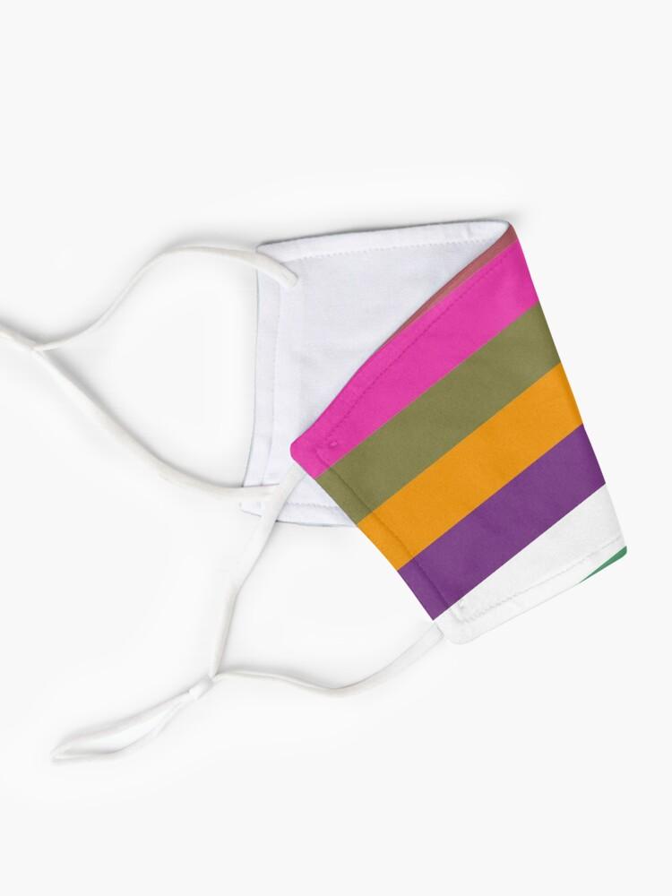 Alternate view of Colour Hue Block Stripes  Mask