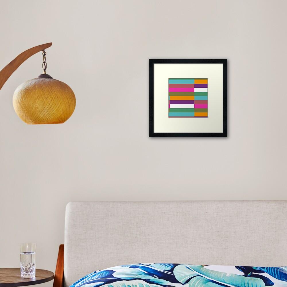 Colour Hue Block Stripes  Framed Art Print