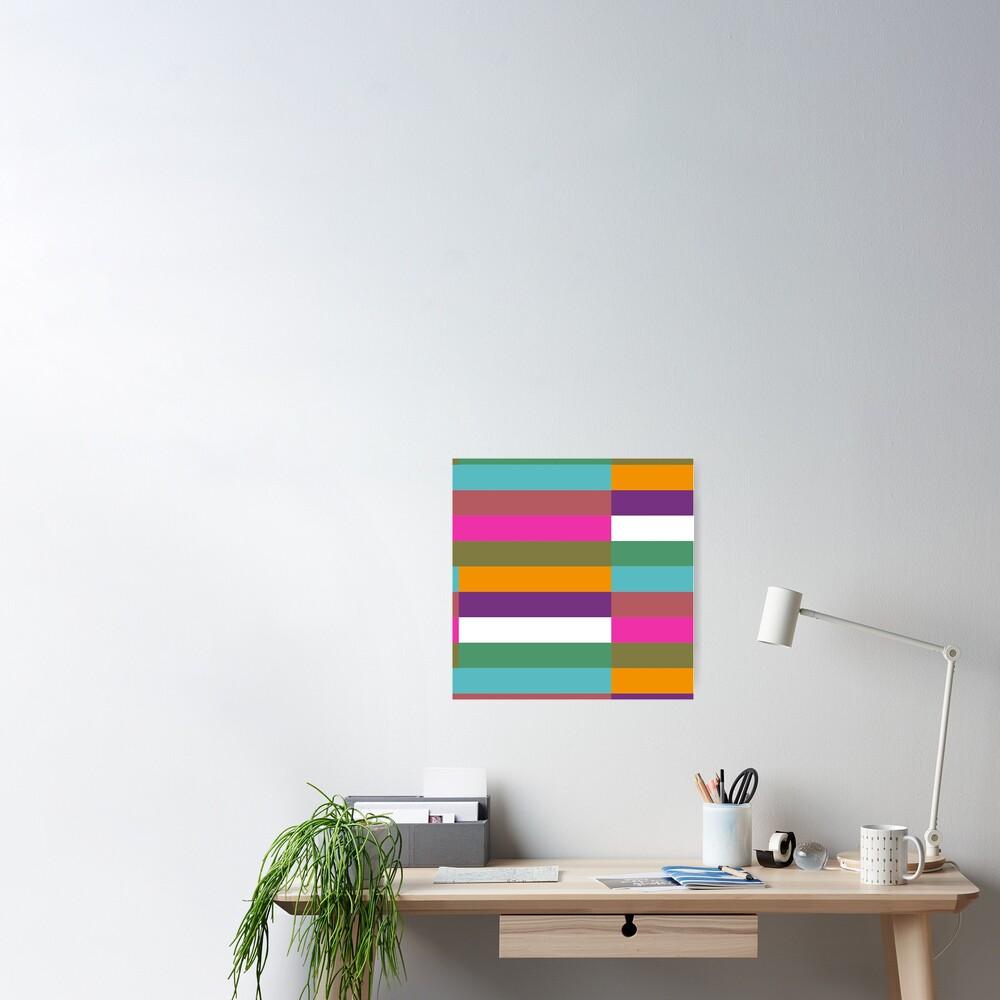 Colour Hue Block Stripes  Poster